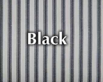 Striped Ticking Remnant - Black