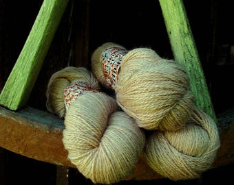 Light brown Wool yarn for knitting 100 g N 6/2