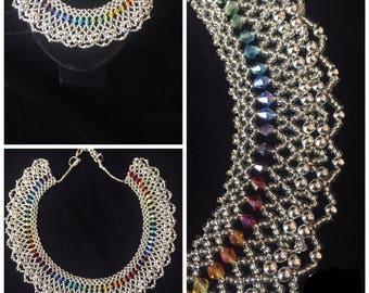 Rainbow Silver Necklace