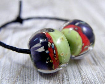 Handmade Lampwork Beads - Earring Pairs ~Petsha~Southwest-Boho-Lampies