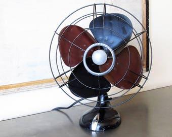 Vintage electric fan ,Westinghouse metal electric fan, electric desk fan, industrial decor.