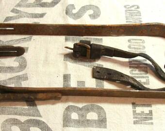Antique Pair Vintage M. Klein & Sons Climbing Spikes Gaffs w/ Date Code of 1907