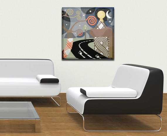 Philosophical Art, Inspirational Wall Art, Acrylic Canvas Abstract, Original Abstract Canvas Art, Abstract Acrylic Art, Geometric Canvas Art