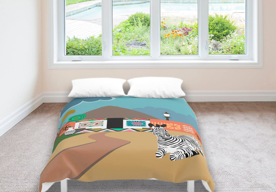 African bedding african duvet cover african bedroom for Studio one bed cover