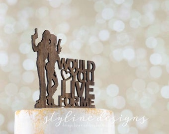 Would you Live for Me - The Joker and Harley Quinn - Event Wedding Cake Topper