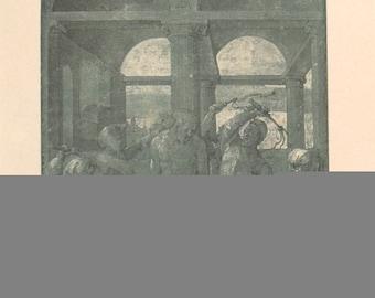 Albrecht Durer-Public Punishment-1930 Lithograph