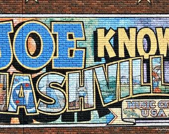 Nashville Sign / Photograph of a Sign / Nashville Tennessee / Free US Shipping / 11x14 / MVMayoPhotography