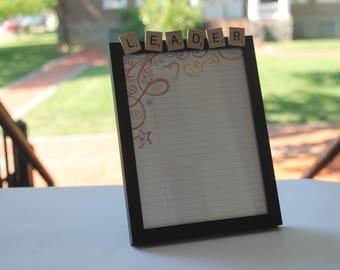 Scrabble Tile Memo Board