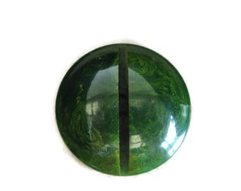 vintage button green bakelite spinach large Art Deco