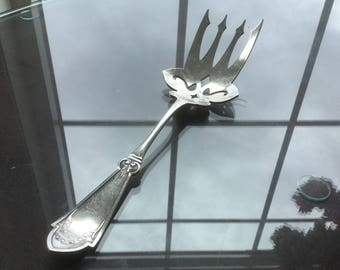 1879 Princess Fish Serving Fork - Victorian Aesthetic Silverplate