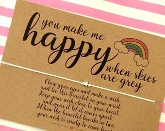 You are my Sunshine Wish Bracelet, Best friend Gift, Friendship Bracelet, Wish Bracelet.