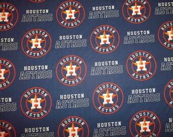 HOUSTON ASTROS   - Mlb  Baseball   Fabric 1  Yard  New All  Toss  Designs  100% Cotton  New Design