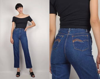70's High Waisted Ankle Jeans
