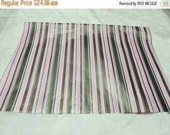 On Sale Bargain Bin 20% off 80 Premium Quality Brown and Pink Striped Print  Tissue Paper, Large Gift Paper, Packaging Paper 20x30
