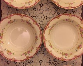 Six Pope Gosser Soup Bowls