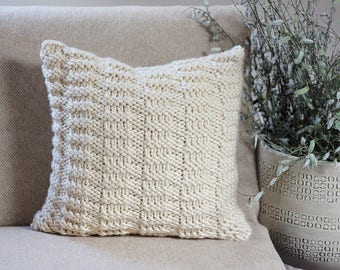 Knitting PATTERN pillow - Dorina pillow cover pattern, homedecor patterns  - Listing55