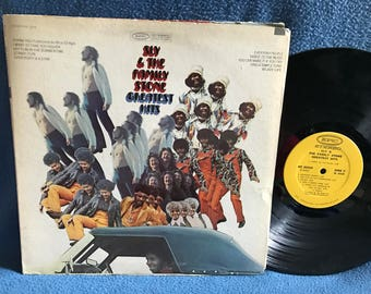 """RARE, Vintage, Sly & The Family Stone - """"Greatest Hits"""" Vinyl LP Record Album, Original 1970 Press, Everyday People, Stand, Life, Funk, Soul"""