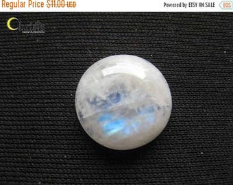 SALE Rainbow Moonstone Round Cabochon 16 x 5mm