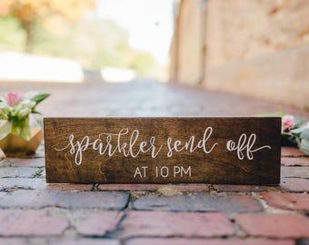Sparkler Send Off Rustic Sign, Rustic Wood Sign, Sparkler Wedding Sign, Wood Wedding Sign, Woodland Wedding Sign, Wedding Sparkler Sign