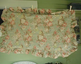 "Vintage Ralph Lauren Pillow Sham,""Charlotte"" Pattern, 1 King Size Pillow Sham, Vintage Ralph Lauren Bedding, Gorgeous Floral with Roses"