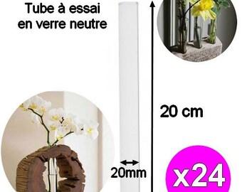 x 24 pieces 20cm width 20mm glass Test Tubes