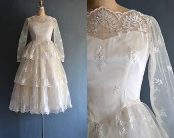 Cassie / 50s wedding dress / bridal gown