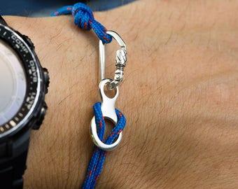 Climbing bracelet carabiner and Figure 8