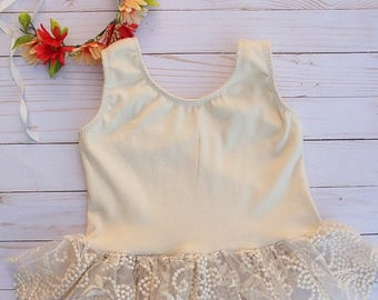 Ivory Lace Peplum Top
