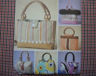 2000s sewing pattern Butterick 4474 Fashion Handbags one size