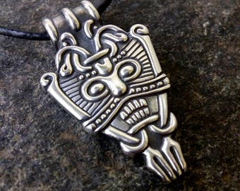 Sterling Silver Loki Viking Pendant Replica, Harad, Sweden