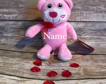 Personalized Pink Bear