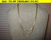 multi strand chain necklace, vintage necklace, estate jewelry