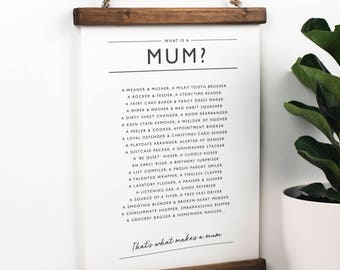 Mum Print - Mum Poem - Personalised Gift For Mum - Mum Poster - Present For Mum - What Is A Mum? Poem - Gift For Mum - New Mum Gift