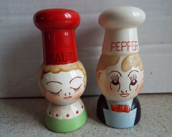 Chef Salt & Pepper Shakers - Cooks, Bakers, Ceramic