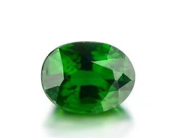 0.52ct Chrome Green Tourmaline 5x4mm Oval Shape Loose Gemstones (Watch Video) SKU 609B002