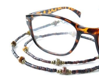 Beaded glasses chain eyeglass lanyard sunglasses holder necklace keeper