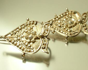 Antique/ estate / vintage, Indian silver tone, turban brooch/ pins - jewellery jewelry