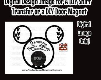 Digital Epcot Ball Disney Family Iron On Transfer Image – Epcot Themed Family Door Magnet Image Matching Family Disney Shirts DIY Shirts