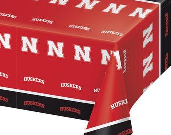 2-Pack University of Nebraska Huskers Premium Plastic Table Covers College Football Party