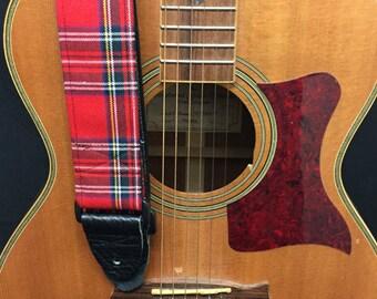Tartan Handmade Guitar Strap Music Accessories Skulls Gothic