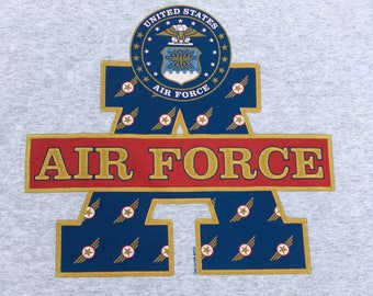 Vintage 1990s U.S. Air Force Heather Gray T-Shirt XL Jerzees