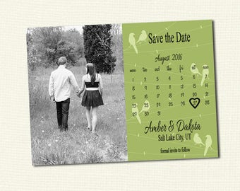 Custom Save the Date with photo and your colors, Print your own 4x6 or 5x7