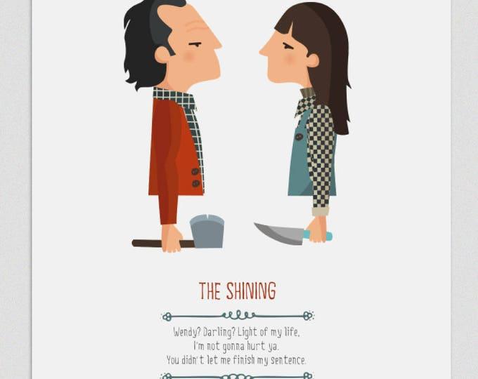 """Ilustración """"El resplandor"""". Basada en la película de Stanley Kubrick."""