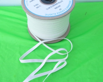 Cotton Swimsuit Elastic Natural Color 1/4 inch wide BTY By The Yard for Swimwear Activewear Leotards