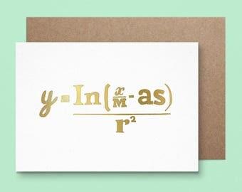 Maths Christmas Card