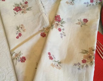 One Gorgeous Ivory with Red/Yellow/Purple Flowers Standard Pillow Case/Covers/Bedding