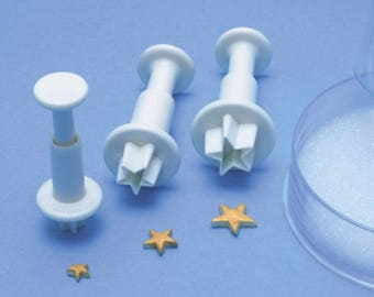 PME Star Plunger Set of 3- Mini star cutters-Fondant Cutters