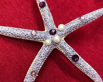 Princess Ariel Mermaid Star Fish Glitter Hair Clip