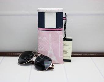 Paris Glasses Pouch - Reading Glasses Case - Fabric Eyeglass Case - Sunglasses Pouch - Padded Glasses Case - Glasses Holder - Gift for Mom