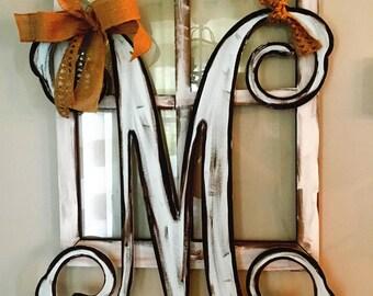 """Cursive letter door hanger 28"""""""